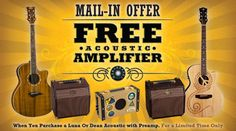 Free Acoustic Amplifier with purchase of Dean Acoustic with Preamp!  #deal #free #music