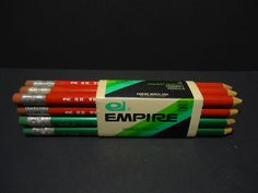 Vintage Pack of 12 Empire Berol Primary Pencils 683 Husky & Eagle Husky 2 MIP