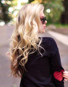 Soft loose curls look best blonde!