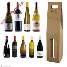 Pudełko na wino do wina szare