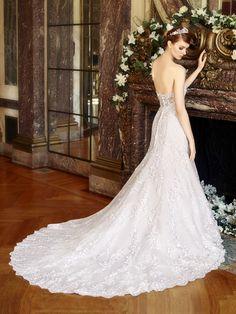 Wedding Dresses:   Illustration   Description   Low back lace bridal gown by Moonlight Bridal    -Read More –   - #WeddingDresses https://adlmag.net/2018/01/01/wedding-dresses-inspiration-low-back-lace-bridal-gown-by-moonlight-bridal/