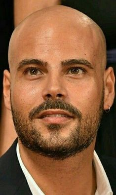 Bald Head Man, Shaved Head With Beard, Bald With Beard, Bald Men Style, Stubble Beard, Grey Beards, Bald Hair, Short Beard, Moustaches