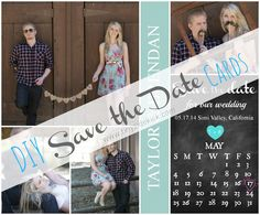 DIY Save the Date Cards {and printed at Costco} #wedding #DIY #savethedate