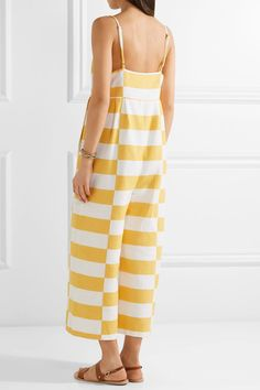 100% Authentic Online Striped Organic Cotton Jumpsuit - Marigold Mara Hoffman Deals For Sale Many Colors Manchester Great Sale Cheap Online 5MSH7D