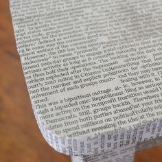 Mod Podge Newspaper Furniture Makeover