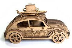 But rather, a mini cooper. Laser Art, 3d Laser, Wooden Art, Wooden Crafts, Wooden Toy Trucks, Laser Cutter Projects, Bird House Plans, Hobby Kits, Model Building Kits