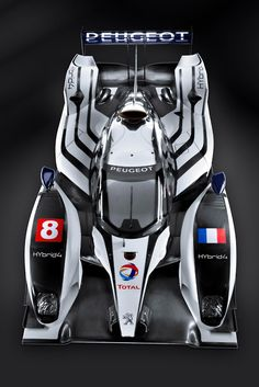 Peugeot 908 HY hybrid Le Mans prototype.