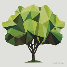 Available as T-Shirts Hoodies and Stickers Geometric Trees, Geometric Shapes Art, Geometric Nature, Geometric Symbols, Origami Tree, Polygon Art, Tree Graphic, Collage Art, Art Drawings