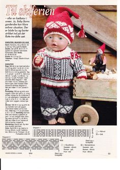 Album Archive - Dukketøj til Baby Born 2 - Ingelise Doll Sewing Patterns, Doll Clothes Patterns, Knitting Patterns, Girl Dolls, Baby Dolls, Crochet Bow Pattern, Fair Isle Chart, Dolly Doll, Teddy Bear Clothes
