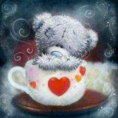 Tatty Teddy - J& déjà préparé du café. Tatty Teddy, Blue Nose Friends, Crochet Teddy, Crochet Bear, Teddy Bear Quotes, Teddy Bear Pictures, Love Bear, Cute Teddy Bears, Cute Panda