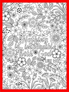 Nothing is impossible with God coloring page #luke #coloringpage