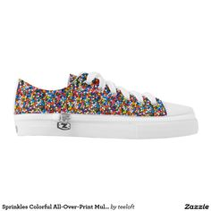 Did we mention we love #Sprinkles? #YesPlease!  http://TeeLoft.com/256151083956227545 (applicable discount always included in link) via @Zazzle • Colorful All-Over-Print Multi-Color Low-Top Sneakers