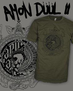 Amon Duul II - Can - Krautrock - Phallus Dei Vintage T-Shirt Scoop V-Neck Raglan