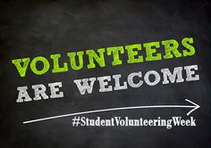 It's student Volunteering Week!  Tell us about your volunteering experiences!
