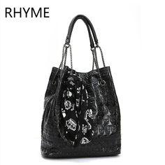 c2a864e3f2 MOLAVE Handbag bag female Solid bags for women PU Women Skull Skeleton Chain  Hangbag Lady Tote Shoulder Bucket Bag