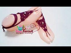 كروشيه خلخال \اكسسوار متعدد الاستخدامات \ خيط وابره \ Crochet Easy Barefoot Sandals - Anklet - YouTube