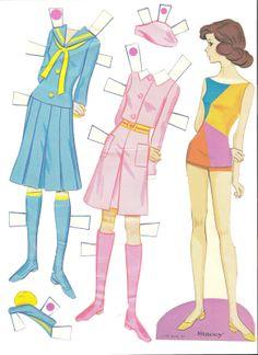 WORLD OF BARBIE Paper Dolls, 1971