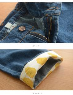 Quần Jean gấu quần vàng phong cách Nhật Bản