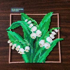 Lily of the Valley perler beads by pkmnmastertash