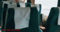 Train to Busan Train To Busan Movie, Korean Tv Shows, Movie Gifs, Teenagers, Horror Movies, Horror Films, Teen, Scary Movies