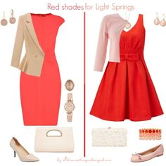 Red Shades for Light Springs by thirtysomethingurbangirl on Polyvore featuring Mode, Miss Selfridge, Ted Baker, Phase Eight, French Sole FS/NY, Pure Navy, Forever New, Deux Lux, Anne Klein and Tacori
