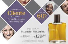 Compre na Rede Natura o deo parfum Essencial masculino com 31% OFF. Promoção válida de 12 a 18/set ou enquanto durarem os estoques.  Semana do Cliente  Por tempo limitado. Aproveite!