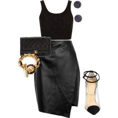 Untitled #1342 by jdawg12 on Polyvore featuring polyvore fashion style Topshop Peridot London Chanel Marc by Marc Jacobs Christian Louboutin