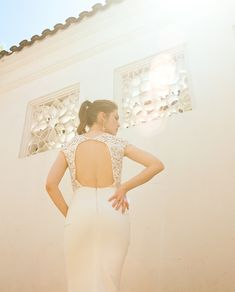 Sash & Bustle an intimate and beautiful boutique for the modern bride, located in Toronto, Ontario, Canada Crepe Wedding Dress, Open Back Wedding Dress, Fit And Flare Wedding Dress, Wedding Dresses, Windsor, Sash, Bridal Gowns, Bride, Beautiful