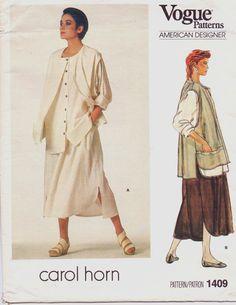 80s Vogue American Designer Pattern 1409 Carol Horn by CloesCloset, $16.00