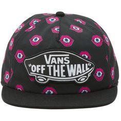Vans Flipside Snapback Hat ($24) ❤ liked on Polyvore featuring accessories, hats, pink, pink snapback hats, snap back hats, bills hat, sun visor hat and visor hats