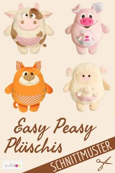 This Easy Peasy Plushis you can also as a sewing beginners simply the same . - You can also make this Easy Peasy Plushie yourself as a sewing beginner! Sewing Projects For Kids, Sewing For Kids, Craft Projects, Funny Pillows, Baby Pillows, Sewing Toys, Baby Sewing, Dou Dou, Felt Pillow
