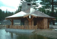 Pavilion, Barns, Outdoor Structures, Cabin, House Styles, Home Decor, Decoration Home, Room Decor, Gazebo