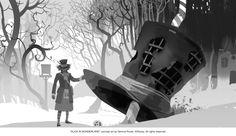 Tim Burton's Alice in Wonderland - Mad Hatter concept art