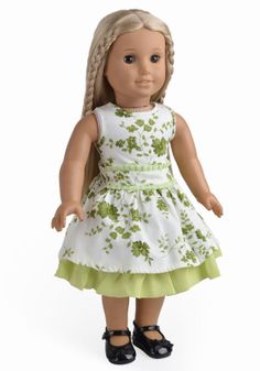 """3 in 1 dress. 2PC Dress Set Doll Clothes Fits 18"""" American Girl Doll Floral One + White One"""