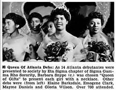 Atlanta debs sponsored by the Sigma Gamma Rho Sorority, 1953
