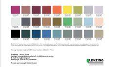 Lenzing Menswear AW17 Colour Palette