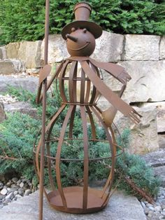 Edelstahl Kugel Metall Gartendeko Beetstecker 1+2 Modern Art 2er Set Gartenstecker Edelrost m