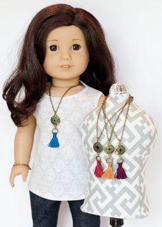 American Girl Doll boho style tassel necklace  by EverydayDollwear