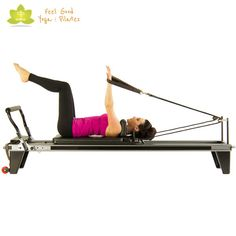 supine arm extension pilates reformer exercise start position - Pilates Reformer Machine