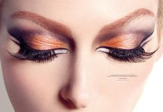 I must do my eyes like this!!!   From the 1st issue of Candy magazine.