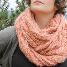 diggin' the chunky scarf for fall