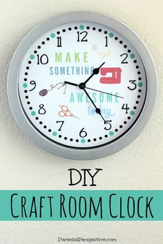 Create a customized clock for your craft space