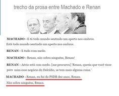 PSDB citado nas Gravações de Renan e machado tramando golpe contra Presidenta Dilma http://forapsdb.tumblr.com/post/144933611838/sarney-sobre-o-psdb-eles-sabem-que-n%C3%A3o-v%C3%A3o-se