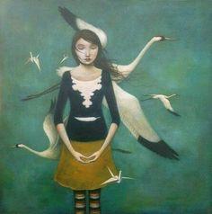 İki kalp arasında en kısa yol: Birbirine uzanmış ve zaman zaman  Ancak parmak uçlarıyla değebilen  İki kol. Merdivenlerin oraya koşuyorum, Beklemek gövde kazanması gibi; Çok erken gelmişim seni bulamıyorum, Bir şeyin provası yapılıyor sanki. Kuşlar toplanmışlar göçüyorlar  Keşke yalnız bunun için sevseydim seni. Cemal Süreya / İki Kalp