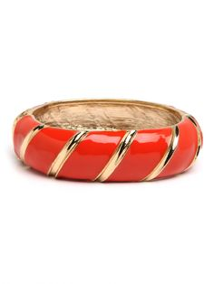 BaubleBar's Tangelo Stripe Cuff.... color of the year!