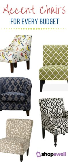 Spice up your space with a fabulous accent chair that won't break the bank. From classic to modern and everything in between, we've found chairs for every decorating style and budget!