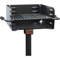 This Pilot Rock Heavy-Duty Steel Park-Style Charcoal Grill is a durable, authentic park-style grill made of heavyweight Barbacoa, Large Bbq, Patio Grande, Brick Bbq, Diy Fire Pit, Fire Pits, Smoke Grill, Charcoal Bbq, Grill Accessories