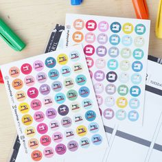 48 Sewing Machine Circles | Retro | Modern |  Sticker Planner by FasyShop on Etsy