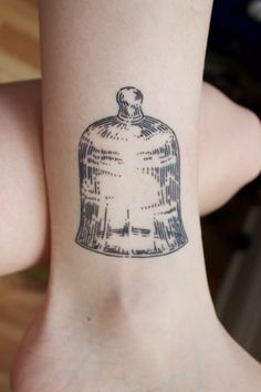 Bell jar by Jared Metzner at West Town Tattoo Chicago, IL - Imgur. Simple and beautiful.