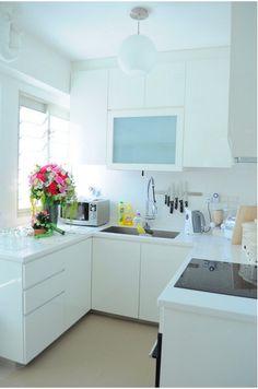 Cozinha pequena romântica